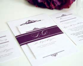 wedding invitations with pictures light purple wedding invitations with damask monogram wedding invitations by shine