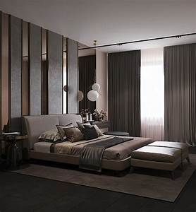 Bedroom, In, Contemporary, Style, On, Behance