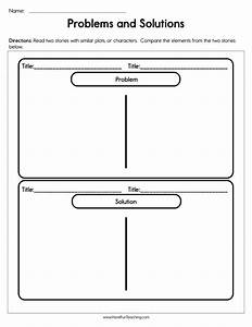 Problems And Solutions Worksheet