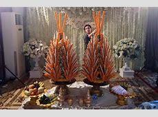 Baci Preparation Making marigold pyramid Pha Khuan and