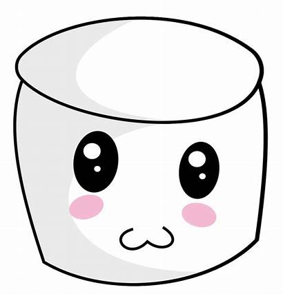 Marshmallow Clipart Face Clip Bucket Container Transparent