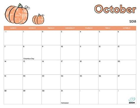 printable calendar  kids kids calendar october