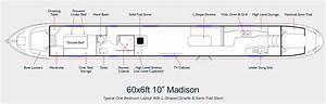 Aqualine Narrowboat Builders Layout Drawing 60ft Madison