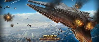 Wars Battle Explosion Republic Planet Airships Wallpapersafari