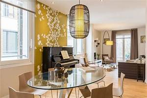 Deco Jaune Moutarde : dacoration intarieur la combinaison gris et jaune galerie ~ Melissatoandfro.com Idées de Décoration
