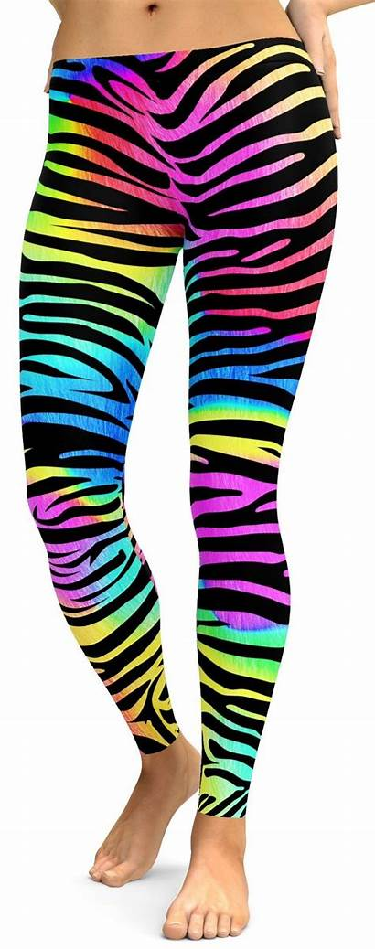 Leggings Pants Colorful Zebra Yoga Striped Gym