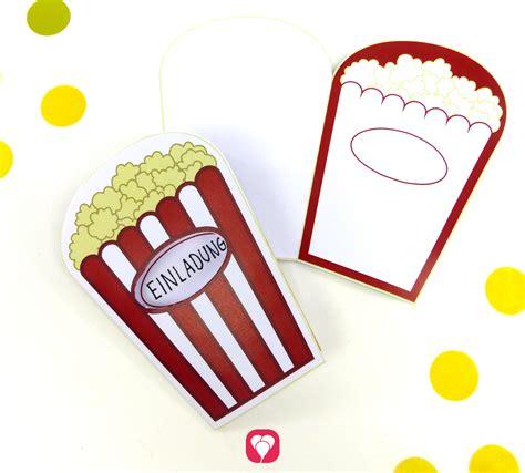 popcorn karte als kino einladung oder kino gutschein