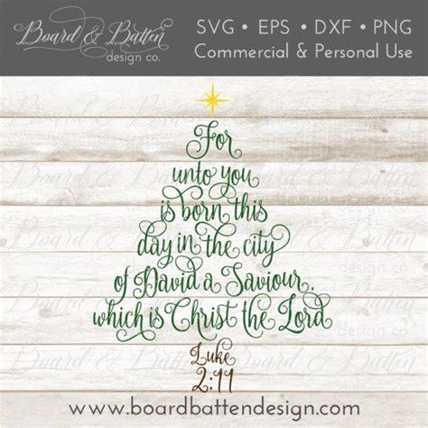 scripture christmas tree luke  svg file board