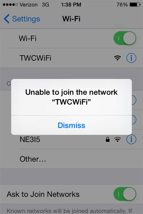 iphone unable to join network unable to connect to twc s cablewifi welcome to the