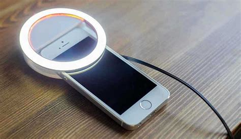 lights when phone rings japanese creates light ring to take selfies in low