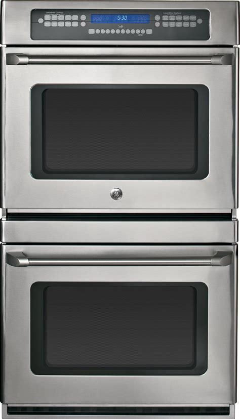 general electric ctstss  double electric wall oven   cu ft preciseair convection