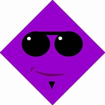 Diamond Shapes Clip Clipart Shape Cliparts Purple