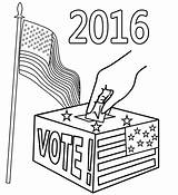 Election Coloring Pages Drawing Printable sketch template