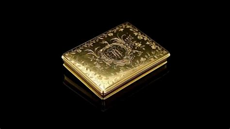 Antique 18thc English Solid Gold Exceptional Snuff Box