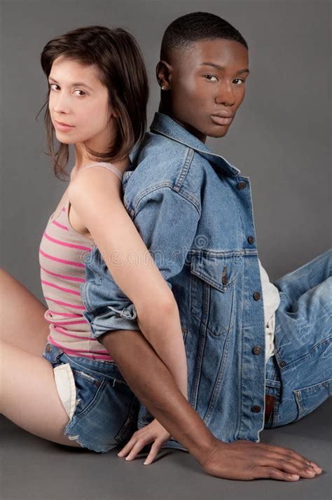 Cute Interracial Couple Stock Image Image Of Gorgeous
