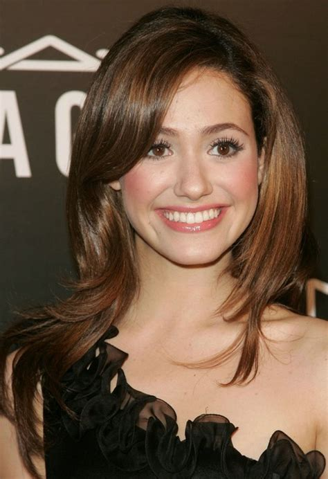 Brown And Hairstyle by Emmy Rossum Hairstyle Sleek Brown Hair Pretty Designs