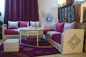accessoires pour salon marocain salon marocain deco With tapis chambre bébé avec tissu pour canapé marocain