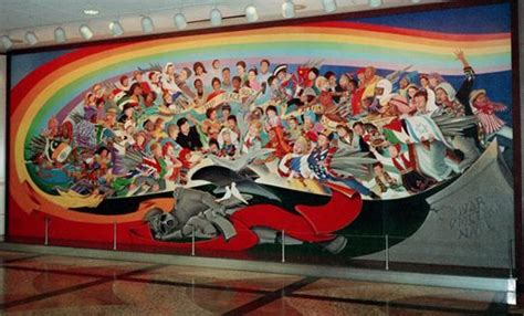 Denver International Airport Murals New World Order denver international airport new world order the pale