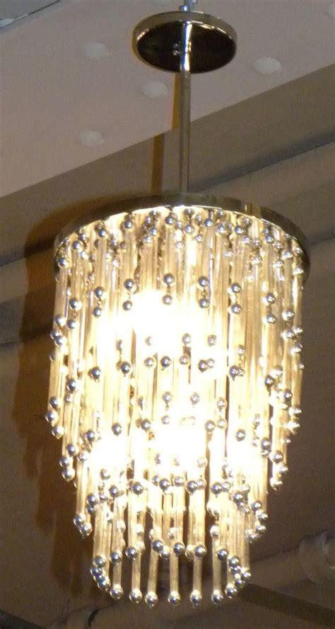 unusual art deco modern chandelier  silver balls