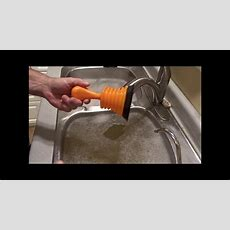 Unclogging Kitchen Sink  Moen Mini Plunger  Youtube
