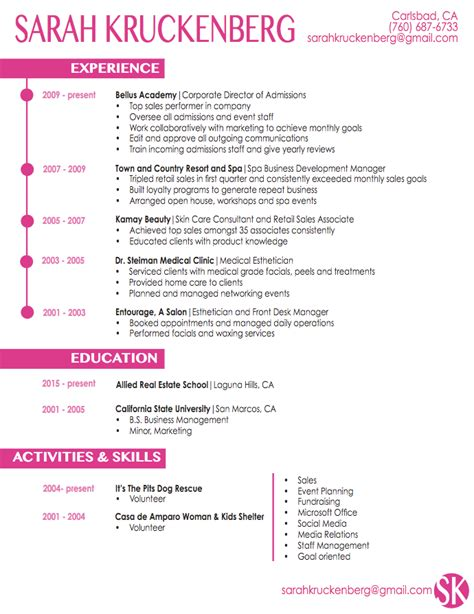 Resume For Esthetician by Resume Sles For Estheticians Modern Resume Exle
