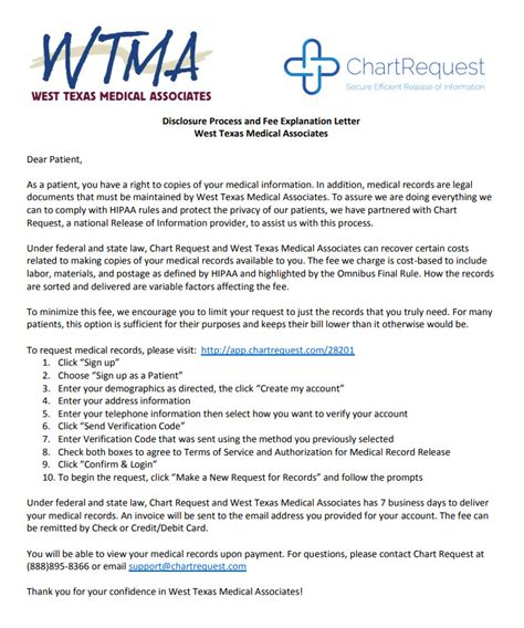 medical records release west texas medical associates