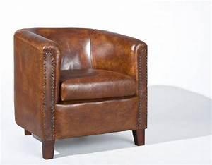 Fauteuil Cuir Marron Vintage : fauteuil de salon inside 75 achat vente de fauteuil de salon inside 75 comparez les prix ~ Teatrodelosmanantiales.com Idées de Décoration