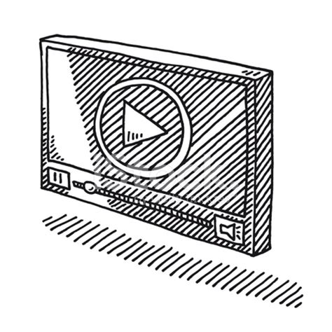 video player symbol drawing stock  freeimagescom