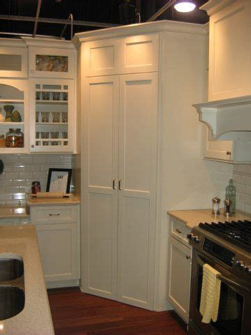 pantry built   corner     fridge