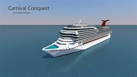 Carnival Conquest Deck Plans Side View by Carnival Conquest 1 1 Scale Replica Minecraft Project