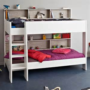 childrens bunk bed in white grey tam tam bunk beds