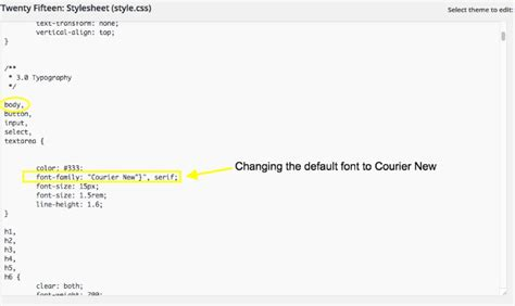 change font color css how to change font color in css html table settings sc 1