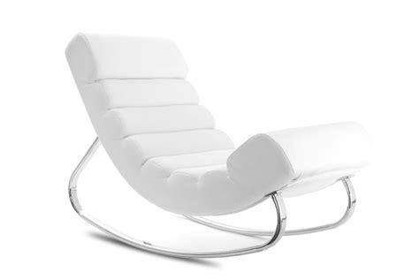 fauteuil miliboo fauteuil design blanc rocking chair ventes pas cher