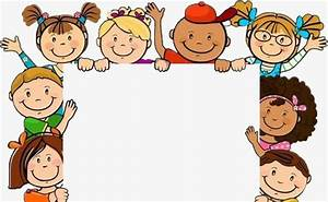 Children's Day Border, Holiday Elements, Cartoon Pupils ...