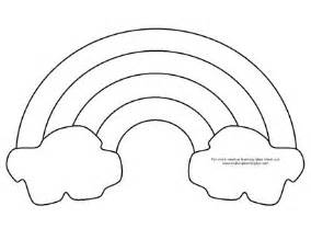 Printable Rainbow Template Coloring Pages