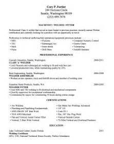 entry level welding resume templates welding resume sle lake tech s career center