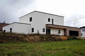 Maison Ossature Bois Toit Plat : maison ossature bois toit plat bisel maisons bois lutz ~ Melissatoandfro.com Idées de Décoration