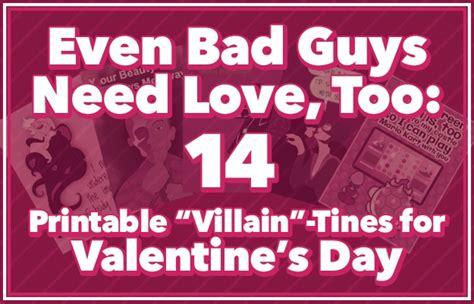 villain tines  valentines day printable