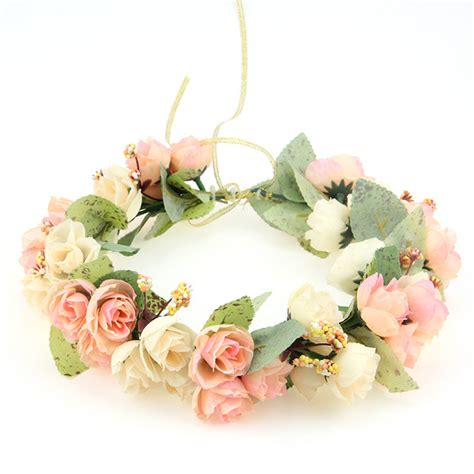 Wanita Dewasa Yang Aliexpress Com Beli Penjualan Panas Pengantin Mahkota Bunga Pengiring Pengantin Hiasan Kepala