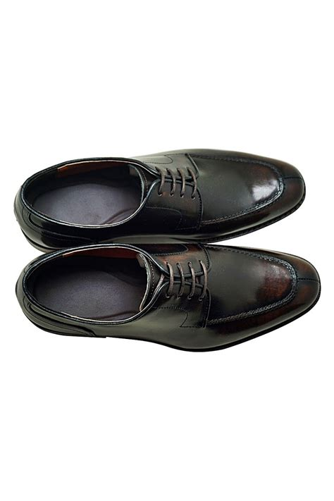 Genuine Cowhide by Brown Genuine Cowhide Leather Lace Up Oxfords Shoes
