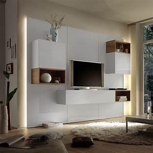 Moderne Möbel Aus Italien : wohnwand cube 2 kombi 3 anbauwand wohnkombi wei hochglanz lack und eiche natur ebay ~ Sanjose-hotels-ca.com Haus und Dekorationen