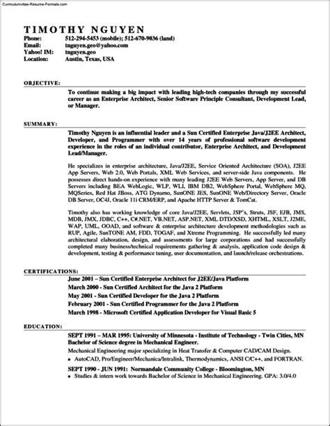 Resume Format In Ms Word 2007 by Resume Template In Microsoft Word 2007 Free Sles
