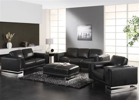 living room design with black leather sofa duashadi