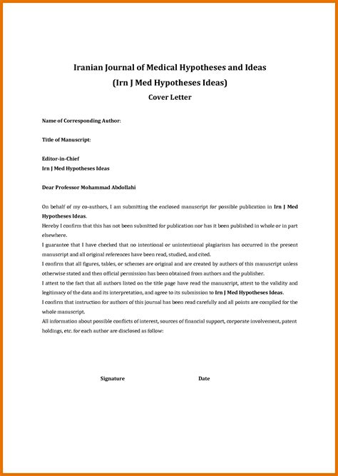 Cover Letter For Manuscript Sle 3 4 manuscript cover letter leterformat