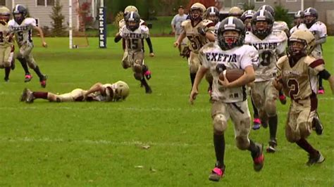 exeter seahawks youth football  yard interception