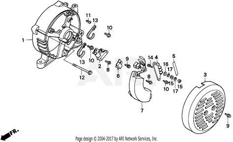 honda eb5000x a generator jpn vin ea7 3000001 parts diagram for rear housing