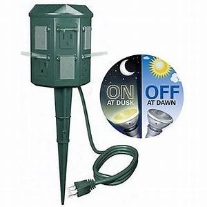 stanley christmas light yard power stake With westinghouse outdoor lighting timer instructions