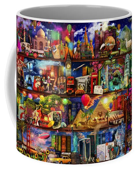 Is company based in roseville, ca 95747, california. World Travel Book Shelf Coffee Mug for Sale by MGL Meiklejohn Graphics Licensing