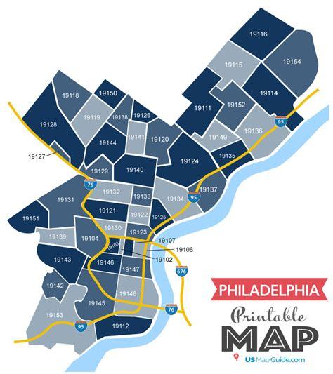 Philadelphia Zip Code Map [Updated 2019]
