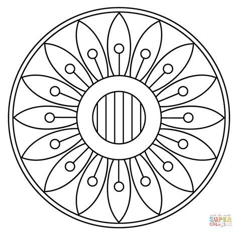 Kleurplaat Mandala Kleuters by Mandala With Floral Pattern Coloring Page Free Printable